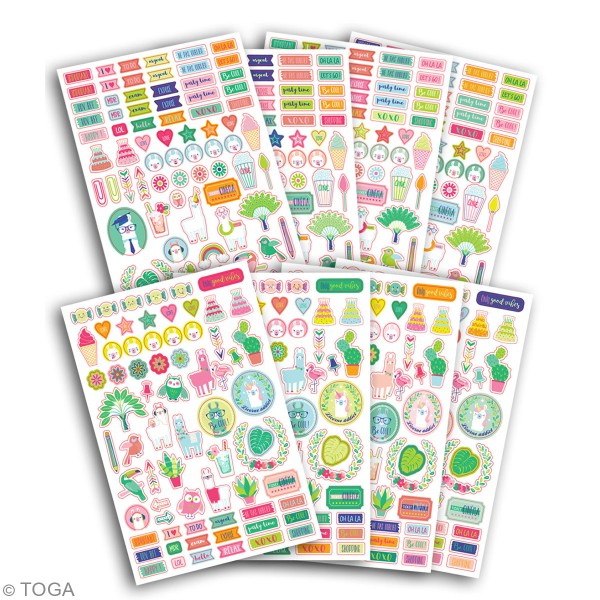 Stickers agenda planner organisation Toga - Oh Lamaa - 500 pcs - Photo n°2