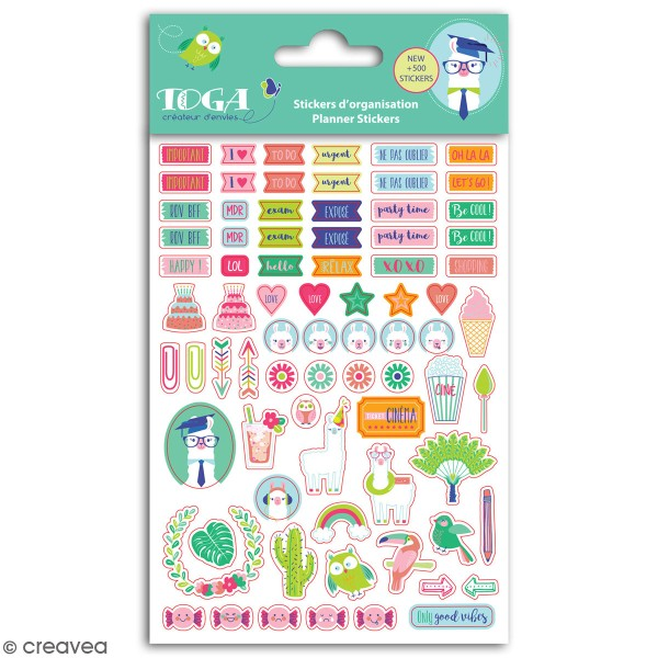 Stickers agenda planner organisation Toga - Oh Lamaa - 500 pcs - Photo n°1