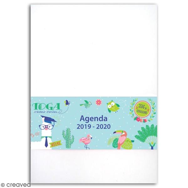 Agenda Scolaire 2019-2020 à décorer - Oh Lamaa - 12 x 17 cm - 1 page par jour - Photo n°1