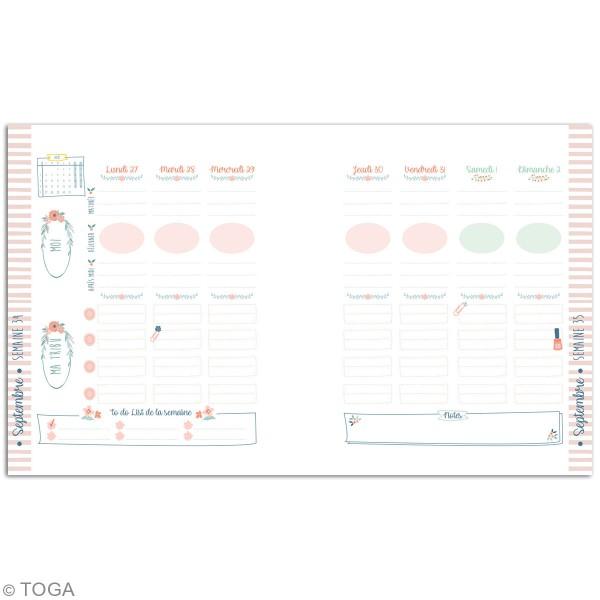 Agenda Familial 2019/2020 à décorer - 20 x 24,5 cm - Photo n°5