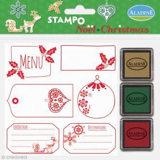Kit de 6 tampons Stampo - Noël Etiquettes