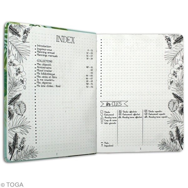 Kit Bullet Journal Toga - Carnet 15,5 x 21,5 cm - 6 pcs - Photo n°4