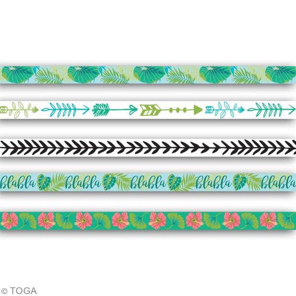 Masking tape slim Toga - Paon - 5 pcs - Photo n°3