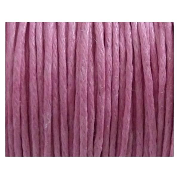 5m Fil Coton Ciré 1mm Rose Bonbon - Photo n°2