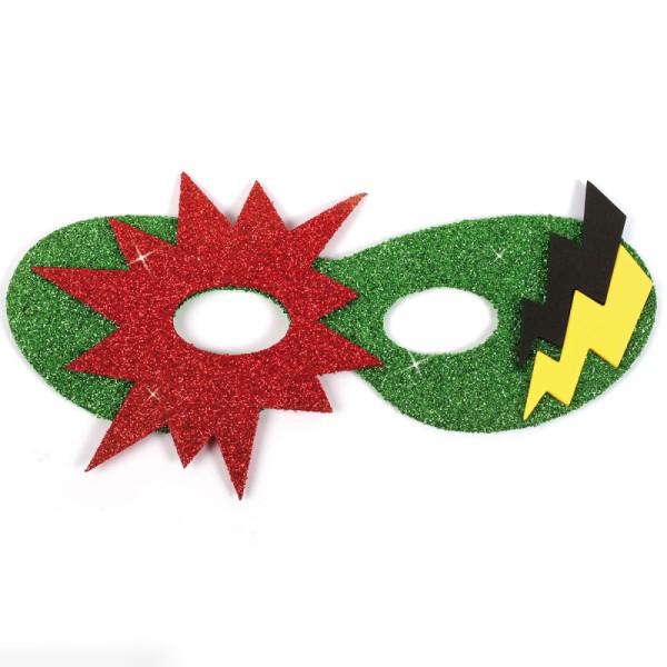 Assortiment de masques en papier mousse - Super héros - 12 pcs - Photo n°2
