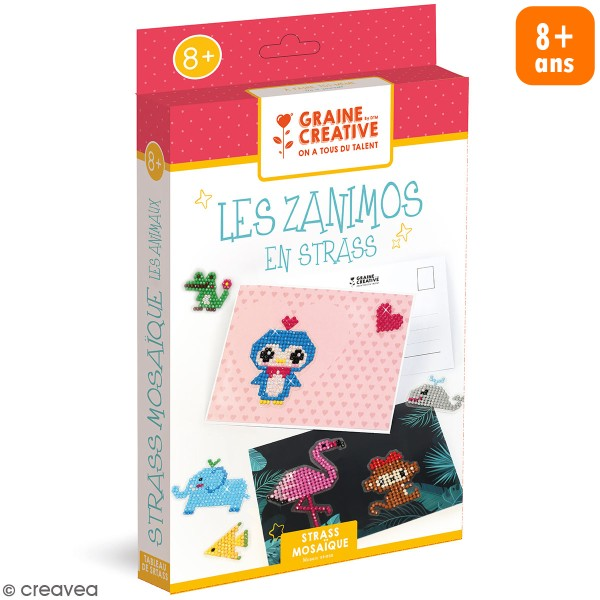 Kit Strass Mozaïque - Les zanimos - Photo n°1