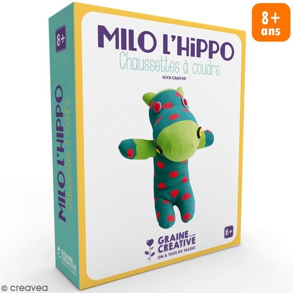 Kit couture enfant - Peluche chaussette Hippo - Photo n°1