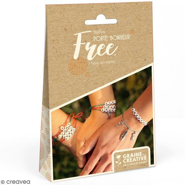 Kit bijoux porte-bonheur - Bracelets à message Perles - Photo n°1