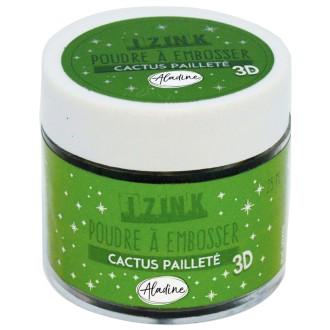 Poudre à embosser - Vert pailleté - 25 ml