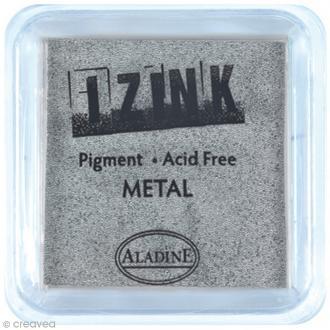 Encreur à pigment Izink - Argent métallique - 8 x 8 cm