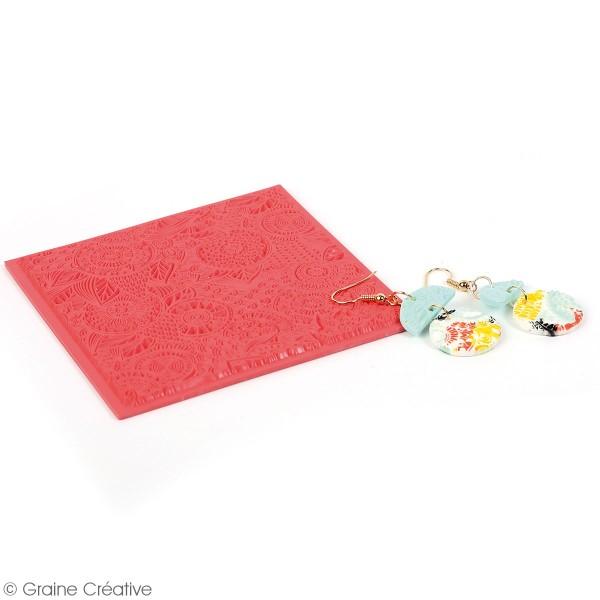 Tapis de texture souple - Floral - 9 x 9 cm - Photo n°2