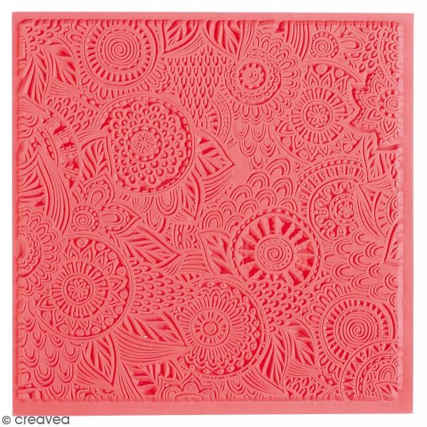 Tapis de texture souple - Floral - 9 x 9 cm - Photo n°1