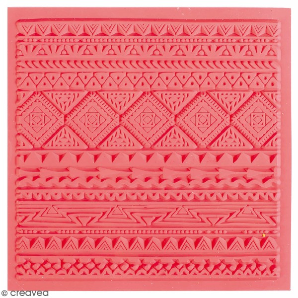 Tapis de texture souple - Ethnique - 9 x 9 cm - Photo n°1