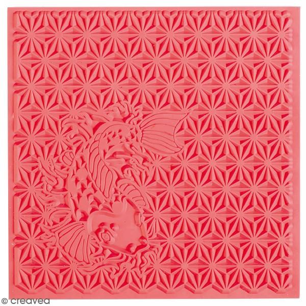 Tapis de texture souple - Japonisant - 9 x 9 cm - Photo n°1