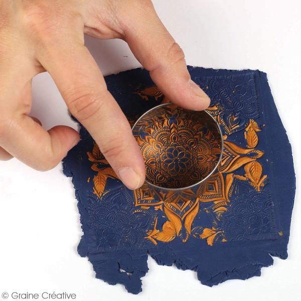 Tapis de texture souple - Boho chic - 9 x 9 cm - Photo n°3