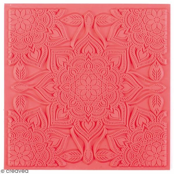 Tapis de texture souple - Boho chic - 9 x 9 cm - Photo n°1