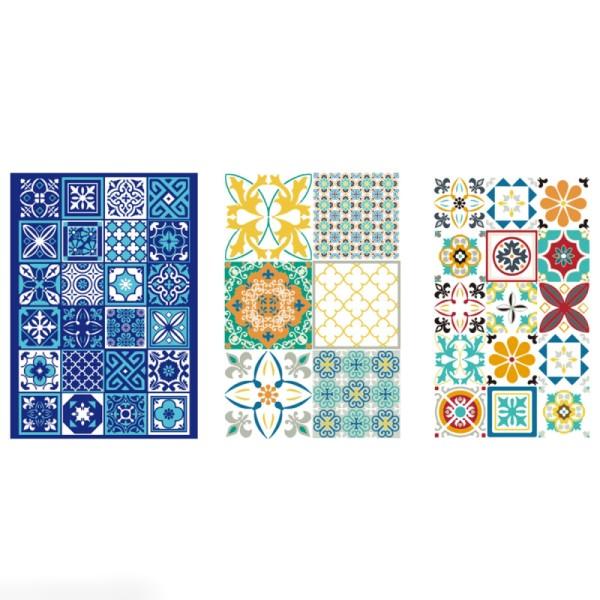 Transferts pour pâte polymère - Azulejos - 3 planches - Photo n°2