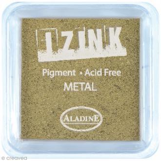 Encreur à pigment Izink - Doré - 8 x 8 cm