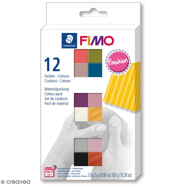 Assortiment Fimo Soft - Fashion - 12 pains de 26 g - Photo n°1
