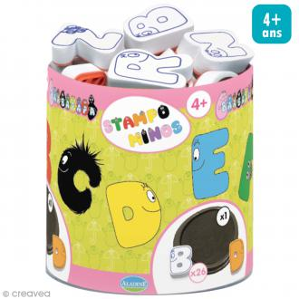 Kit de 26 tampons Stampo Minos - Alphabet Barbapapa - Dès 4 ans et +