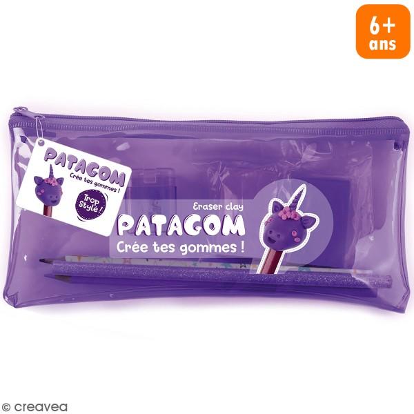 Kit trousse violette Patagom - Licorne - 7 pcs - Photo n°1