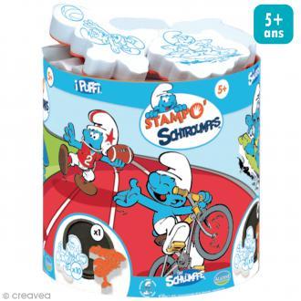 Kit de 10 tampons Stampo - Schtroumpfs sport - Dès 5 ans