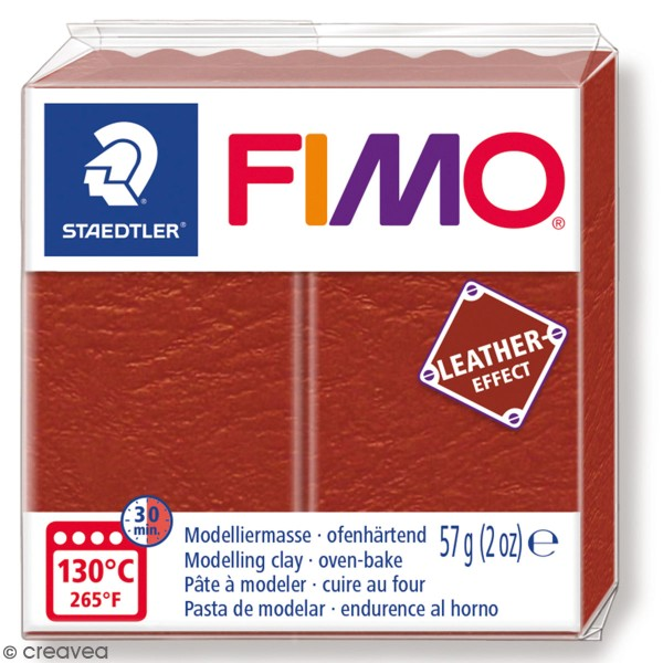 Pâte Fimo Effet Cuir Rouille - 57 g - Photo n°1