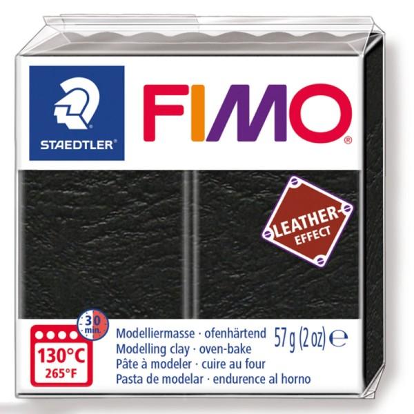 Pâte Fimo Effet Cuir Noir - 57 g - Photo n°1
