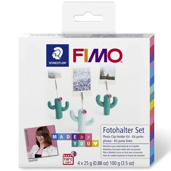 Kit DIY Fimo Made by you - Porte-photo cactus - 7 pcs - Photo n°1