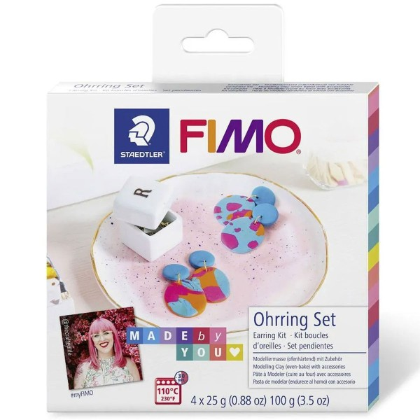 Kit DIY Fimo Made by you - Boucles d'oreilles - 20 pcs - Photo n°1