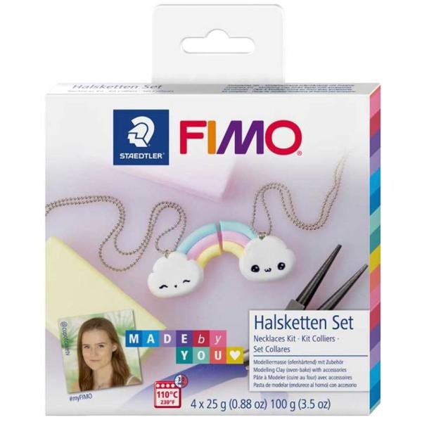 Kit DIY Fimo Made by you - Colliers arc-en-ciel - 8 pcs - Photo n°1