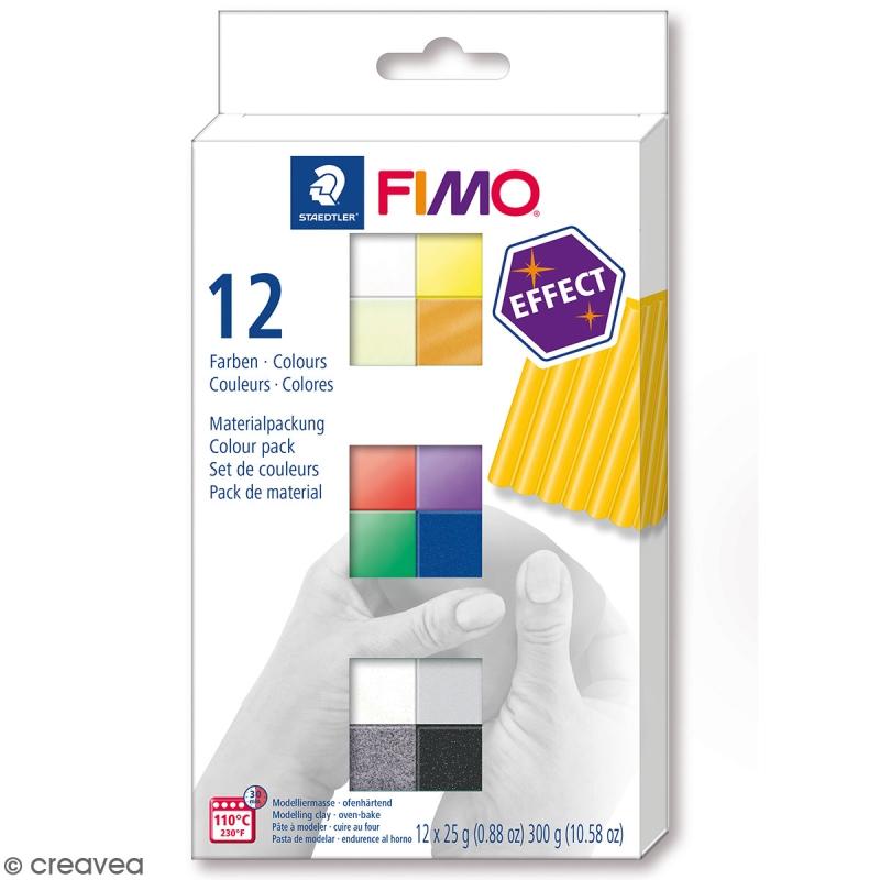 Fimo P/âte /à modeler Glitter Lot de 10 blocs 56g couleurs assorties