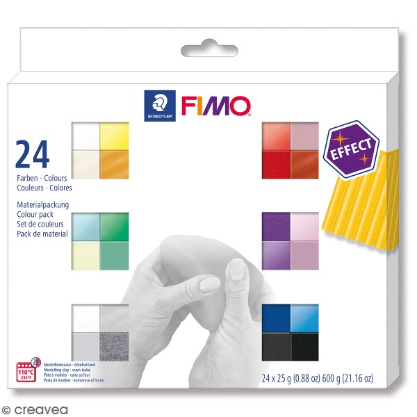 Coffret Pâte Fimo Effect - 24 x 25 g - Photo n°1