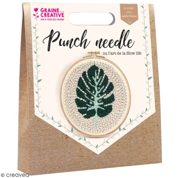 Kit punch needle - Feuille - Photo n°1