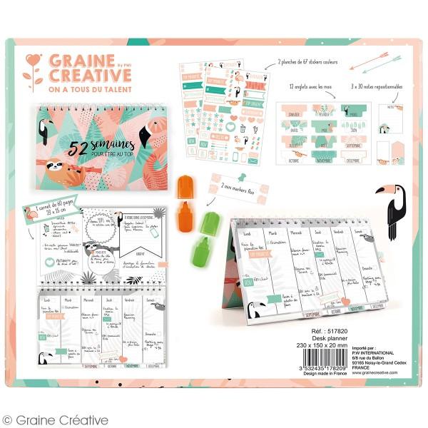 Kit Planner semainier perpétuel à décorer - 52 semaines - 20 pcs - Photo n°3