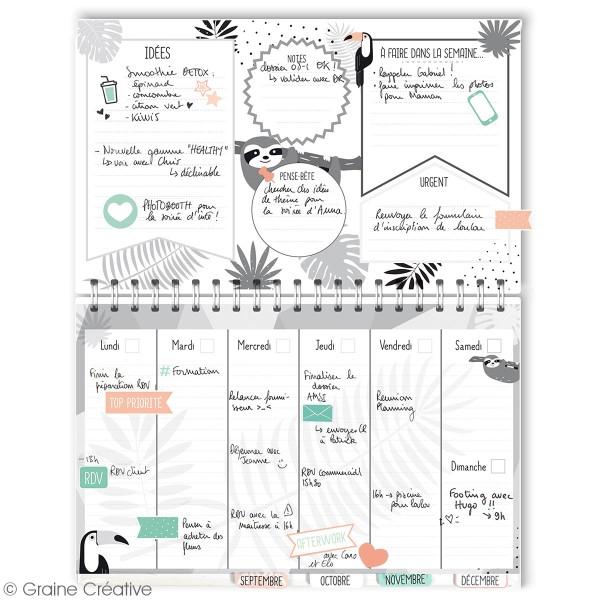 Kit Planner semainier perpétuel à décorer - 52 semaines - 20 pcs - Photo n°4