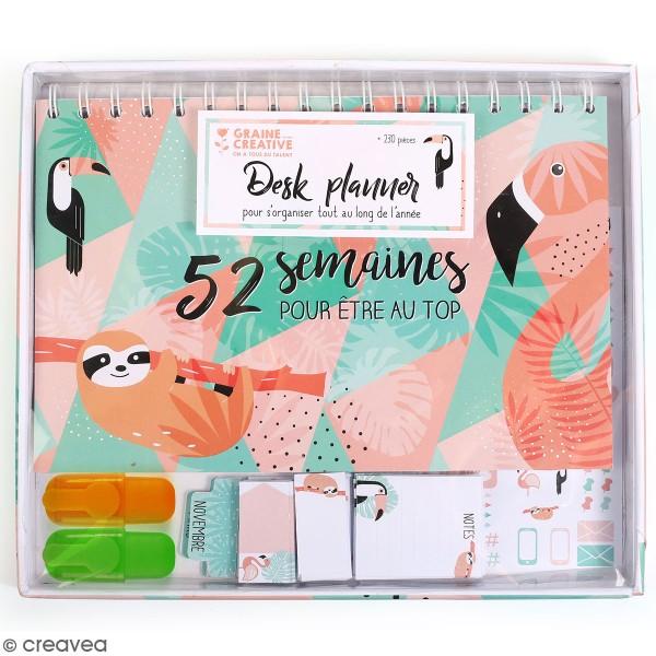 Kit Planner semainier perpétuel à décorer - 52 semaines - 20 pcs - Photo n°1