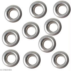 Oeillets argentés ronds 4,8 mm - 50 pcs