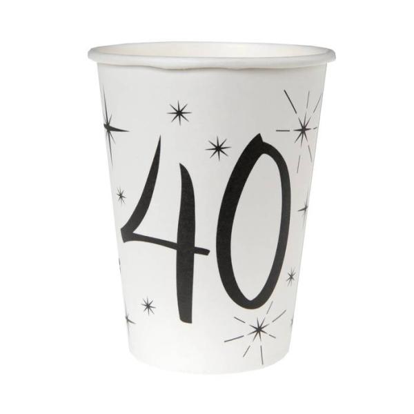 20 Gobelets anniversaire 40 ans - Photo n°1