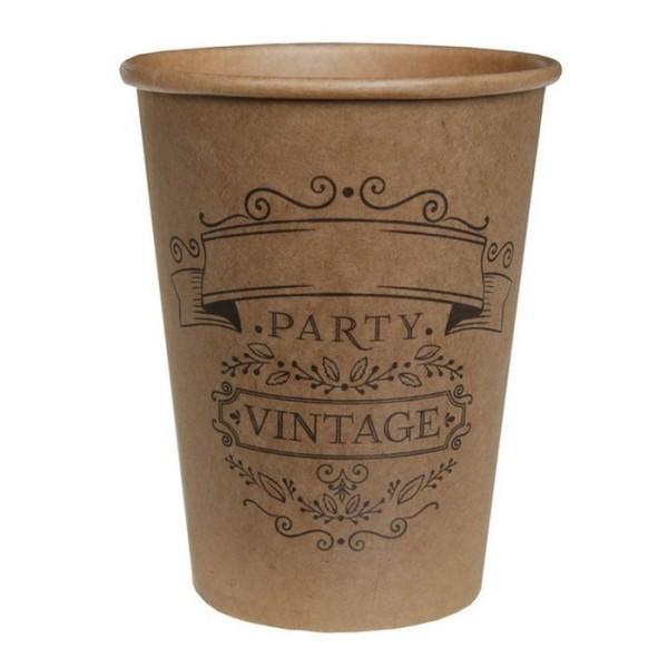 20 Gobelets en carton Vintage Kraft - Photo n°1