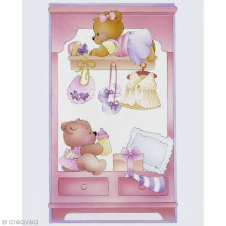 Image 3D Divers - Commode bébé fille - 24 x 30 cm