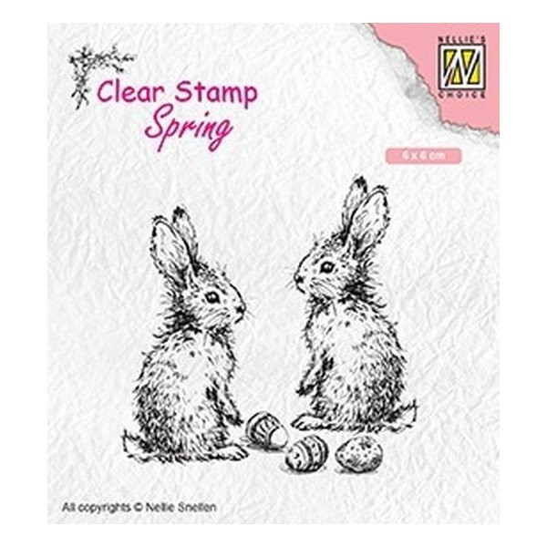Tampon transparent clear stamp scrapbooking Nellie's Choice Pâques LAPIN ŒUF 006 - Photo n°1