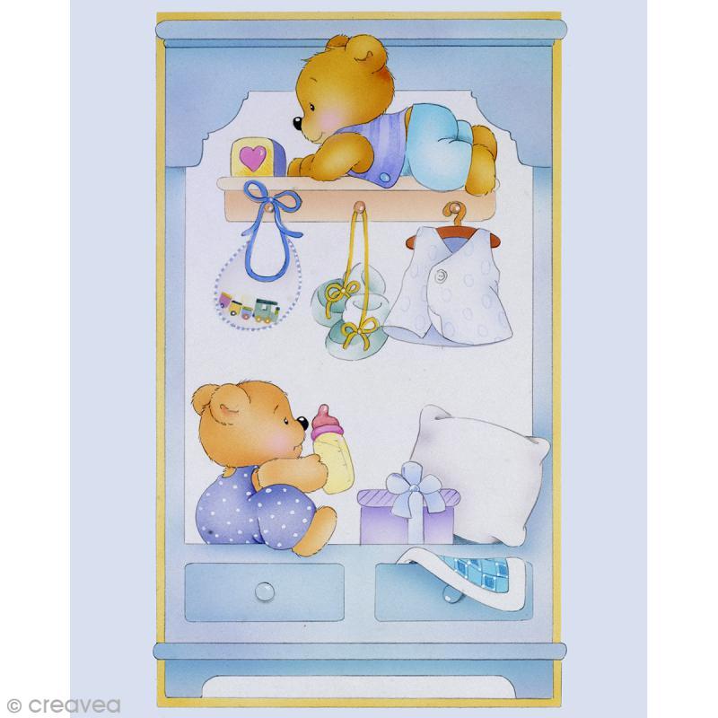 image 3d divers commode b b gar on 24 x 30 cm. Black Bedroom Furniture Sets. Home Design Ideas