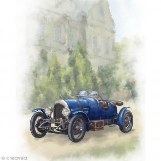 Image 3D Divers - Voiture ancienne bleue - 24 x 30 cm