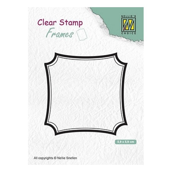 Tampon transparent clear stamp scrapbooking Nellie's Choice CADRE 001 - Photo n°1