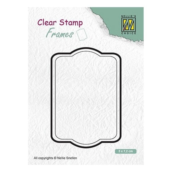 Tampon transparent clear stamp scrapbooking Nellie's Choice CADRE 002 - Photo n°1