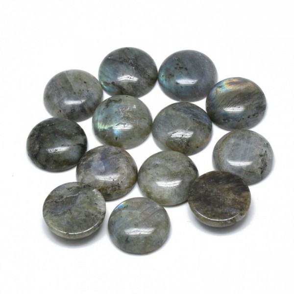 Cabochon Rond pierre naturelle 20mm LABRADORITE - Photo n°2