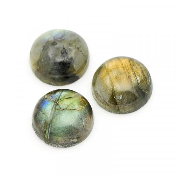 Cabochon Rond pierre naturelle 20mm LABRADORITE - Photo n°1