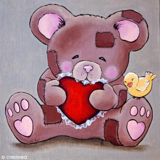 Image 3D Animaux - Ourson calin - 30 x 30 cm