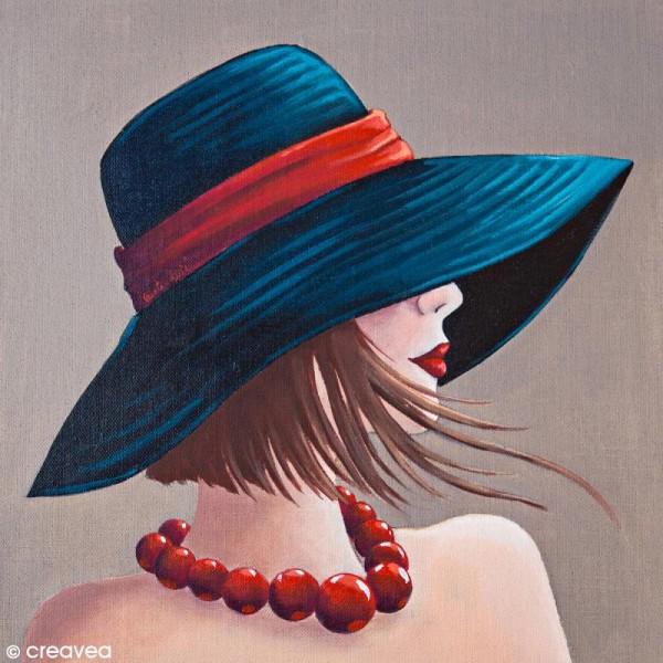 Image 3D Divers - Femme au collier rouge - 30 x 30 cm - Photo n°1